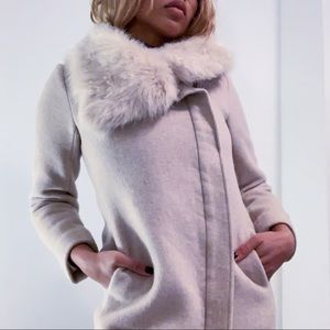 Club Monaco Wool Evangah Coat - Light Pink